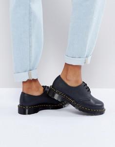Кожаные туфли на плоской подошве со шнуровкой Dr Martens 1461 Premium - Черный
