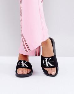 Черные шлепанцы Calvin Klein Jeans Chantal - Черный