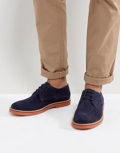 Темно-синие туфли дерби с контрастной подошвой KG By Kurt Geiger Morcombe - Синий