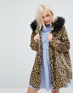 Oversize-куртка с леопардовым принтом Lazy Oaf - Мульти