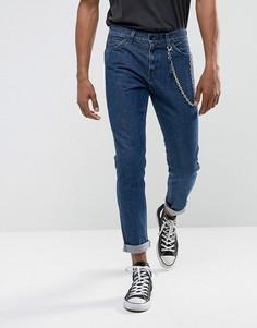 Темные джинсы слим Levis Line 8 Fences - Синий