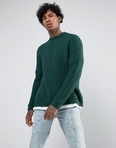 Зеленый свободный джемпер ASOS - Зеленый