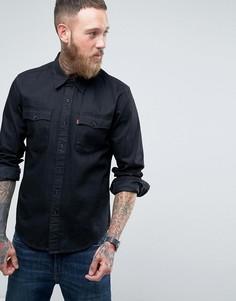 Черная рубашка из шамбре с длинными рукавами Levis Orange Tab - Черный Levis®