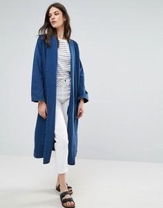 Длинное джинсовое пальто Waven Anja - Синий