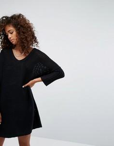 Трикотажное платье с V-образным вырезом Noisy May - Черный