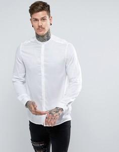 Прозрачная рубашка классического кроя с воротником на пуговице ASOS - Белый