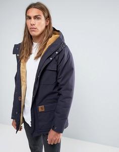 Куртка с подкладкой из искусственного меха Carhartt WIP Mentley - Темно-синий