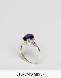 Серебряное кольцо с синим турмалином Regal Rose Endless Love - Серебряный