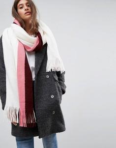 Мягкий шарф с длинными кисточками ASOS - Серый