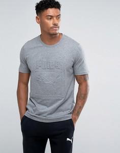 Серая футболка с тисненым логотипом Puma Archive 57450703 - Серый