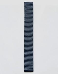 Трикотажный галстук 7X - Синий