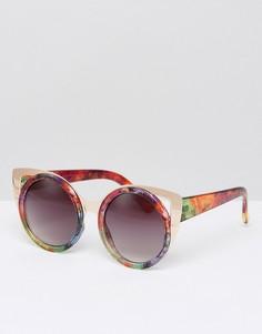 Солнцезащитные очки с золотистой металлической отделкой Jeepers Peepers - Золотой