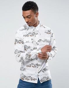 Рубашка с принтом гор Bellfield - Белый