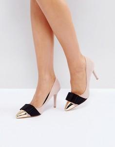 Телесные туфли-лодочки с бантиками Miss KG Alyssa - Бежевый