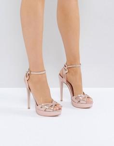 Босоножки на каблуке и платформе Miss KG - Золотой
