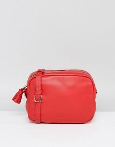 Кожаная сумка через плечо с кисточкой Made - Красный