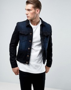 Джинсовая куртка с отделкой в байкерском стиле Juice - Черный