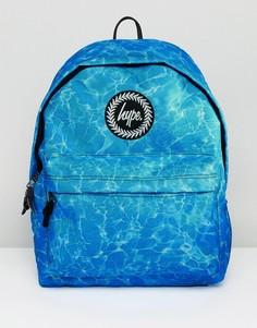 Синий рюкзак с принтом Hype - Синий