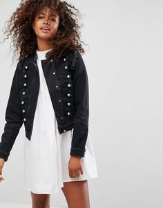 Джинсовая куртка в стиле милитари ASOS - Черный
