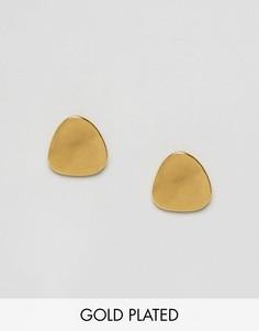 Закругленные серьги-гвоздики Ottoman Hands - Золотой