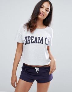 Пижамные футболка и шорты New Look - Фиолетовый