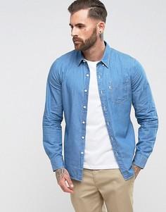 Светлая джинсовая рубашка с одним карманом Levis - Синий Levis®