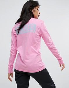 Оверсайз-лонгслив с принтом на спине Dickies - Розовый