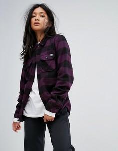 Рубашка бойфренда в клетку Dickies - Фиолетовый