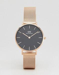 Золотистые часы с сетчатым ремешком Daniel Wellington DW00100161 - Золотой
