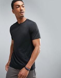 Черная меланжевая футболка Perry Ellis 360 - Черный