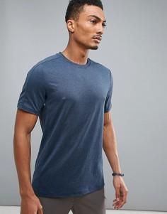Темно-синяя меланжевая футболка Perry Ellis 360 Sports - Темно-синий