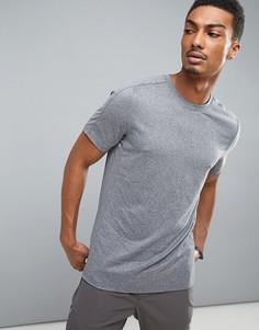 Серая меланжевая футболка Perry Ellis 360 - Серый