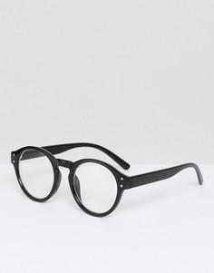 Черные круглые очки в стиле ретро AJ Morgan - Черный