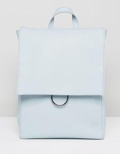 Рюкзак с клапаном и декоративным кольцом ASOS - Синий