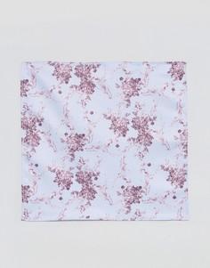 Платок для нагрудного кармана с цветочным принтом ASOS - Синий