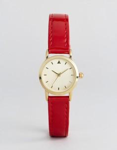 Маленькие часы с красным ремешком ASOS - Красный
