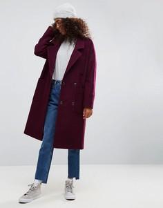 Пальто оверсайз ASOS - Фиолетовый