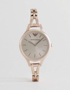 Часы с золотисто-розовым корпусом Emporio Armani AR11055 - Золотой