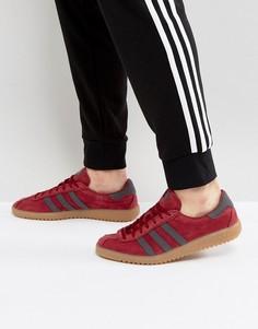 Красные замшевые кроссовки adidas Originals Bermuda BY9653 - Красный