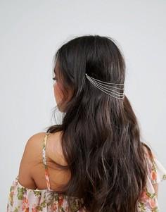 Украшение для волос с цепочками в несколько рядов ASOS - Золотой