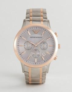 Часы-браслет с хронографом Emporio Armani AR11077 - Серебряный