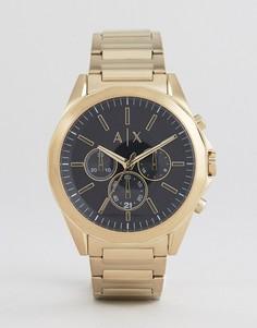 Золотистые часы-хронограф Armani Exchange AX2611 - Золотой
