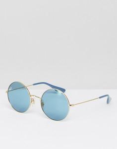 Круглые солнцезащитные очки Ray-Ban Jajo 0RB3592 - Золотой