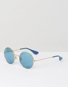 Круглые солнцезащитные очки с поляризованными стеклами Ray-Ban Jajo 0RB3592 - Золотой