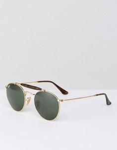 Круглые солнцезащитные очки Ray-Ban 0RB3747 - Золотой