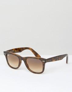 Солнцезащитные очки-вайфареры Ray-Ban 0RB4340 - Коричневый