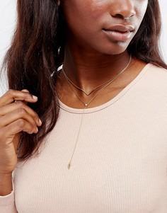 Ярусное ожерелье-чокер Orelia - Золотой
