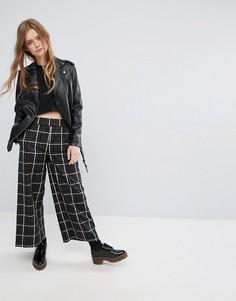 Широкие брюки в клетку Monki - Мульти