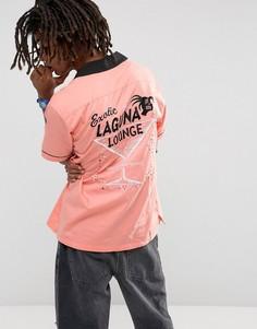 Рубашка для боулинга с принтом Stussy Laguna - Оранжевый