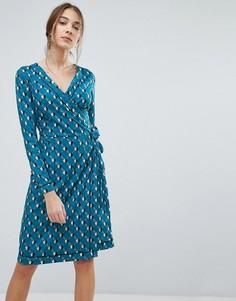 Платье с запахом и цветочным принтом Uttam Boutique - Зеленый